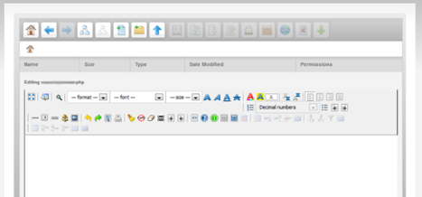 New file manager - righ text editor