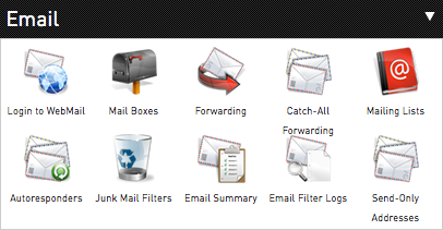 mail option in control panel